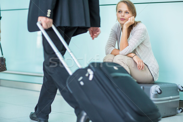 Young, female frustrated passenger at the airport Stock photo © lightpoet