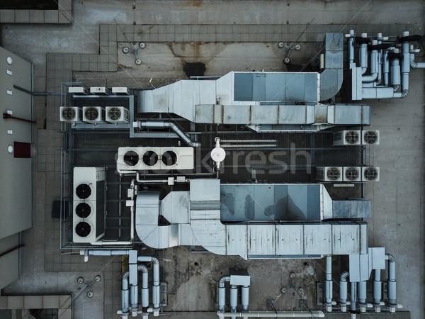 Airconditioning uitrusting modern gebouw huis frame industrie Stockfoto © lightpoet