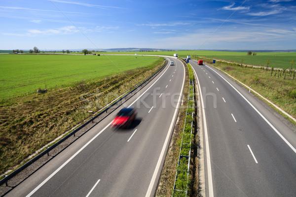 Rodovia tráfego ensolarado verão dia negócio Foto stock © lightpoet