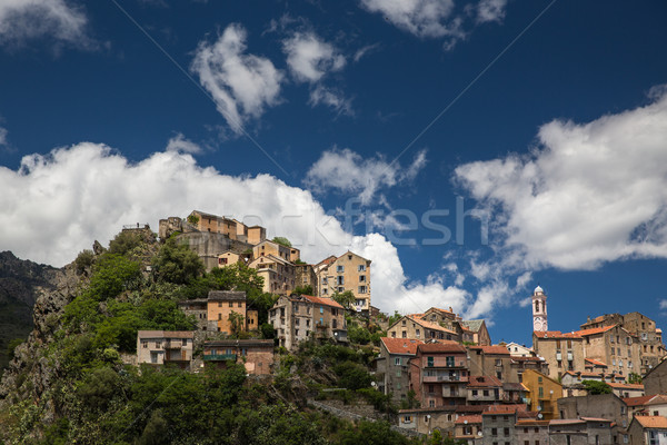 View of Corte, Corsica, France Stock photo © lightpoet