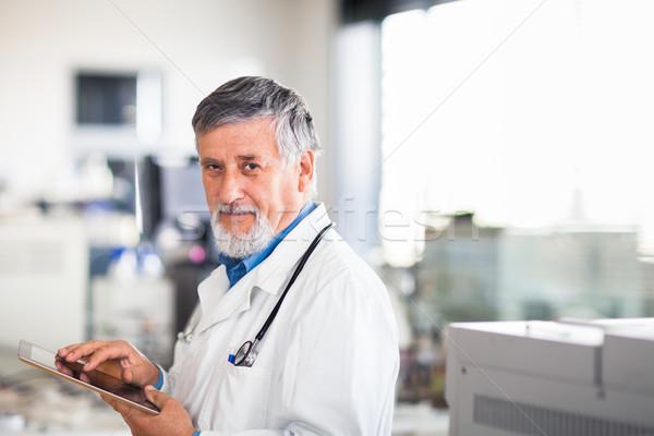 Photo stock: Supérieurs · médecin · travaux · couleur · ordinateur
