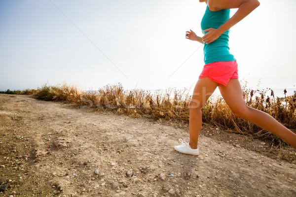 若い女性 ジョグ 運動 ぼやけた 画像 ストックフォト © lightpoet