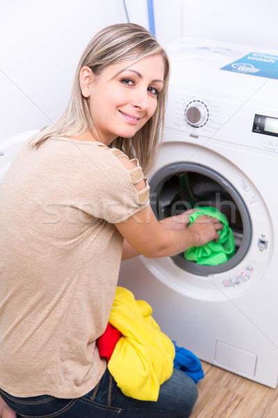 работа по дому прачечной мелкий цвета Сток-фото © lightpoet