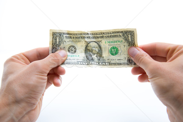 Questioning the value of American Dollar - Currency value concep Stock photo © lightpoet