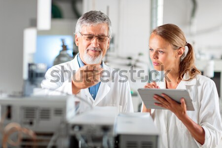 シニア 化学 ラボ 色 コンピュータ オフィス ストックフォト © lightpoet