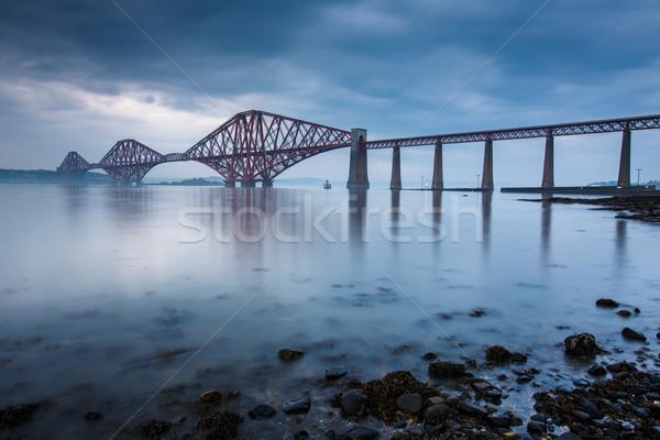Bruggen Edinburgh Schotland gebouw zee brug Stockfoto © lightpoet