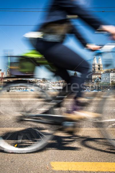 チューリッヒ 景観 運動 ぼやけた 市 トラフィック ストックフォト © lightpoet