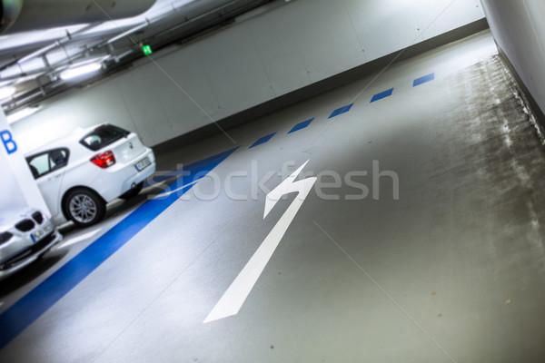 Ondergrondse auto stad licht achtergrond ruimte Stockfoto © lightpoet