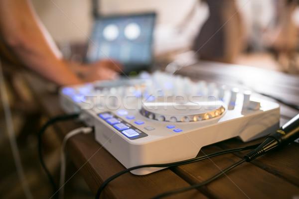 компакт-диск игрок смеситель свадьба дома вечеринка Сток-фото © lightpoet