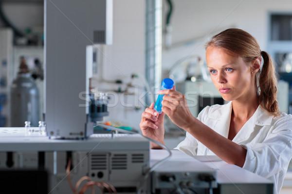 Retrato feminino investigador pesquisa lab Foto stock © lightpoet