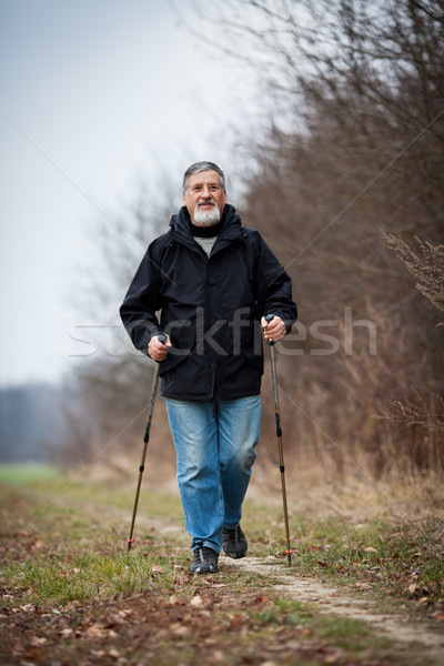 Senior homem caminhada corpo fitness Foto stock © lightpoet
