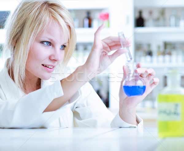 portrait of a female researcher/chemistry student  Stock photo © lightpoet