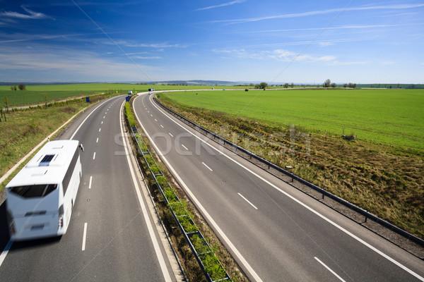 Autostrady ruchu słoneczny lata dzień działalności Zdjęcia stock © lightpoet
