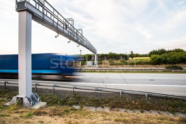 грузовика ворот шоссе движения расплывчатый Сток-фото © lightpoet