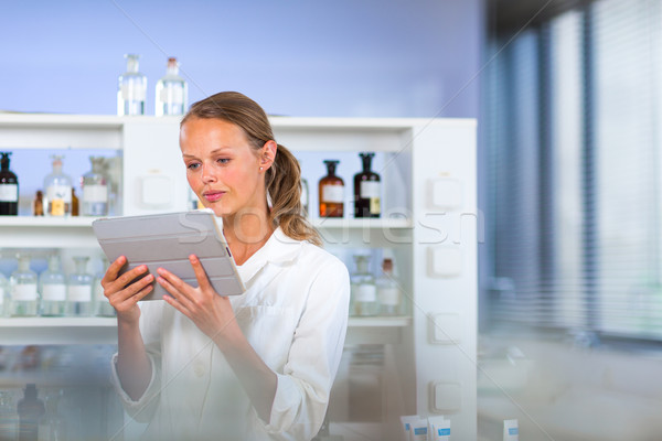 Portrait of a female researcher in a chemistry lab Stock photo © lightpoet