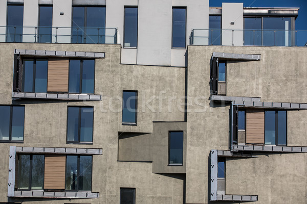 Stock photo: Contemporary design of multifamily living houses
