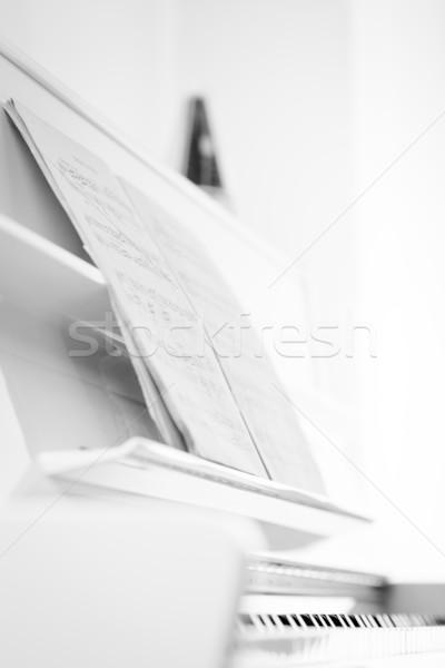 Jogar piano raso cor mão Foto stock © lightpoet