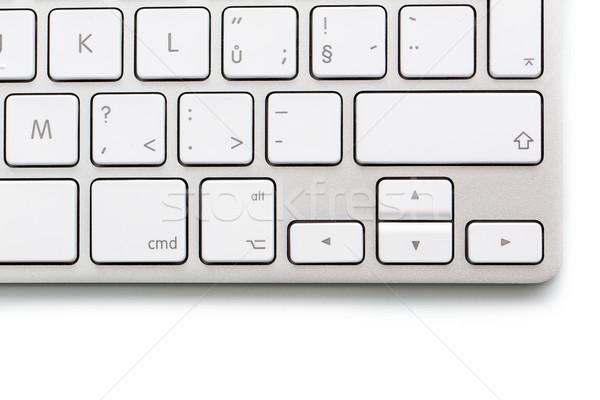 Moderne witte computer appel toetsenbord web Stockfoto © lightpoet