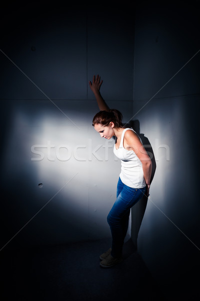 Young woman suffering from a severe depression, anxiety Stock photo © lightpoet