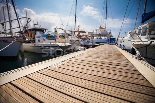 Marina bateaux mer océan navire yacht Photo stock © lightpoet