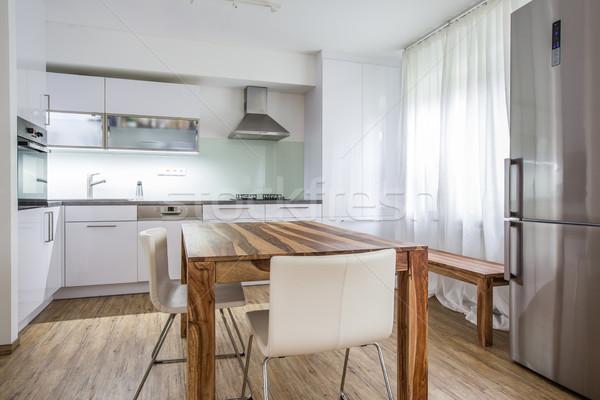 Modern Kitchen Interior Design Architecture Stock Image, Photo o Stock photo © lightpoet