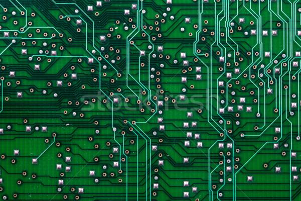 Wydrukowane zielone komputera płytce drukowanej wiele elektryczne Zdjęcia stock © lightpoet