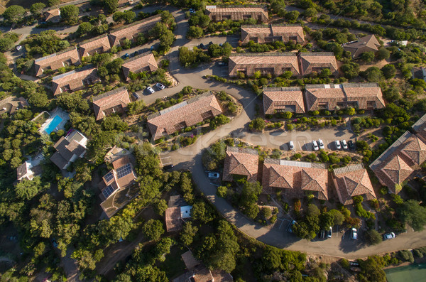 Aerial view of affluent suburban neighborhood Stock photo © lightpoet