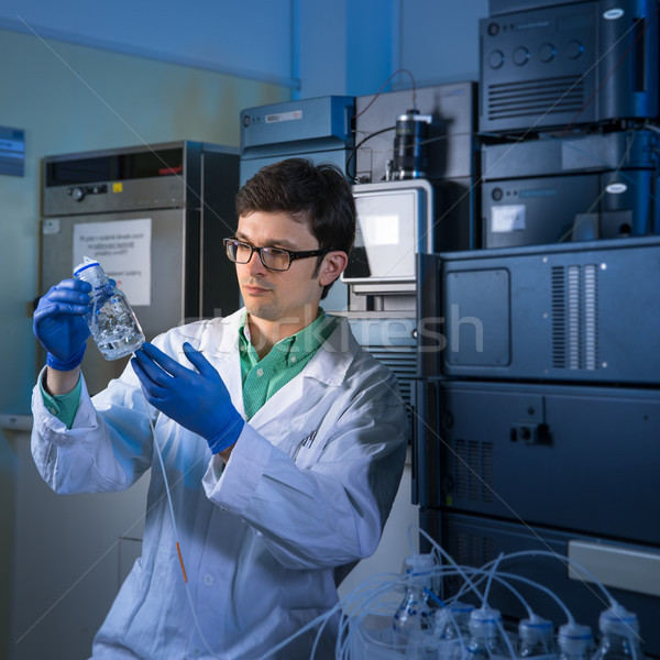 Portrait of a male researcher carrying out scientific research Stock photo © lightpoet