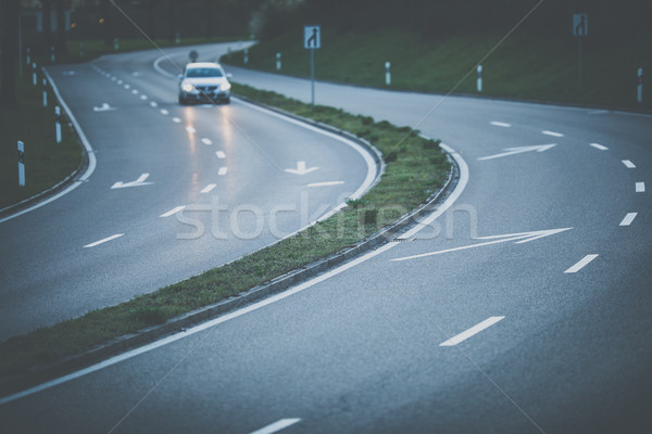 Cars on a highway at sunset  Stock photo © lightpoet