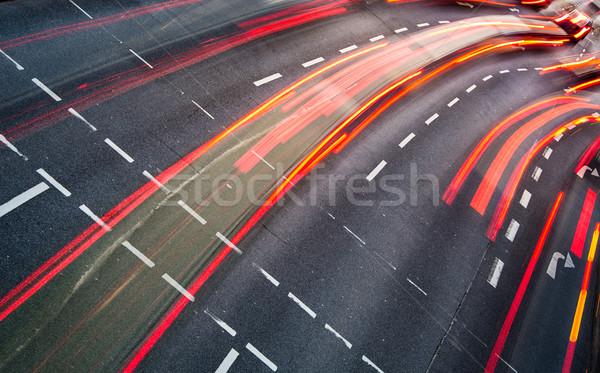 運動 ぼやけた 市 道路 トラフィック 色 ストックフォト © lightpoet