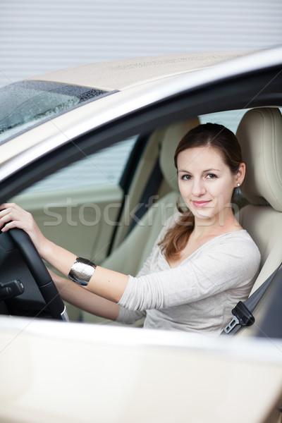 Foto stock: Bastante · conducción · coche · nuevo · negocios · carretera