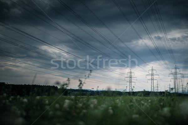 Elektrik dağıtım istasyon elektrik Stok fotoğraf © lightpoet