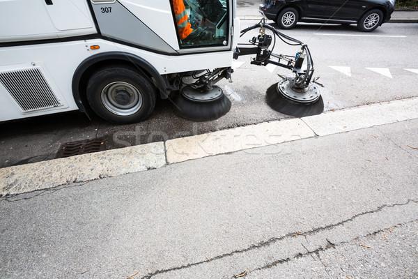 Сток-фото: подробность · улице · очистки · дороги · город · работу
