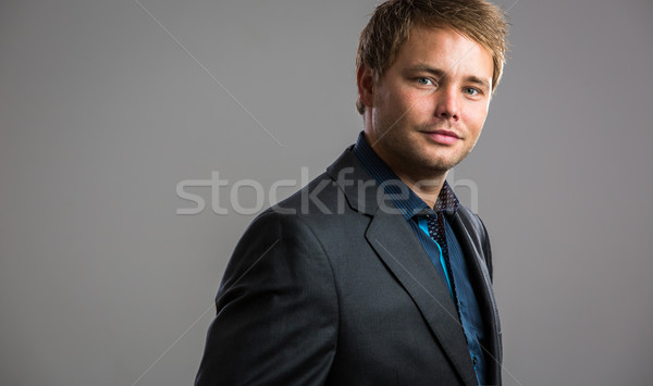 Handsome, young businessman - well dressed Stock photo © lightpoet