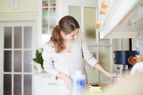 Сток-фото: работа · по · дому · очистки · кухне · дома · девушки