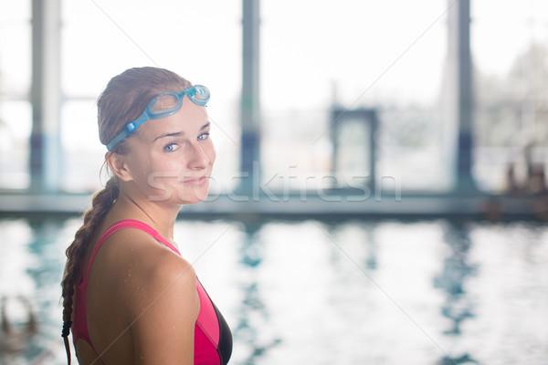 女性 スイマー スイミングプール 泳ぐ 浅い ストックフォト © lightpoet