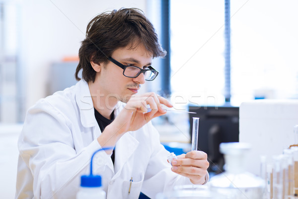 young, male chemistry student  in a lab Stock photo © lightpoet