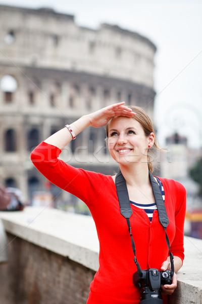 ストックフォト: 肖像 · かなり · 小さな · 観光 · 観光 · ローマ