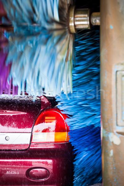 cars in a carwash Stock photo © lightpoet