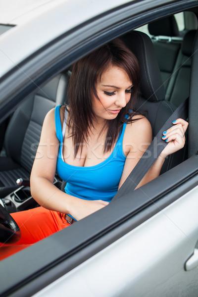 Bastante conducción coche nuevo color imagen Foto stock © lightpoet