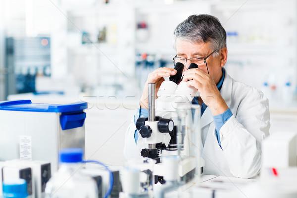 Photo stock: Supérieurs · Homme · chercheur · sur · recherche · scientifique