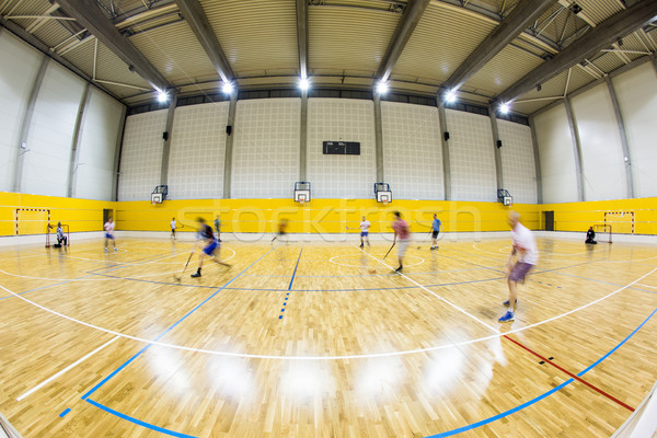 interior of a modern multifunctional gymnasium with young people Stock photo © lightpoet