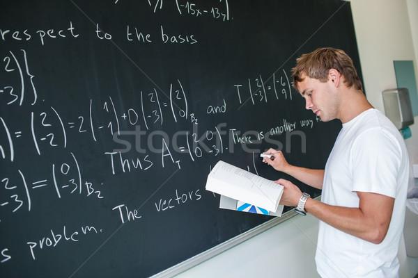 ハンサム 大学生 数学 問題 クラス 色 ストックフォト © lightpoet