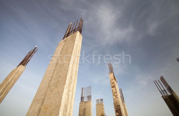 Bâtiment ciel bleu ciel route Photo stock © lightpoet
