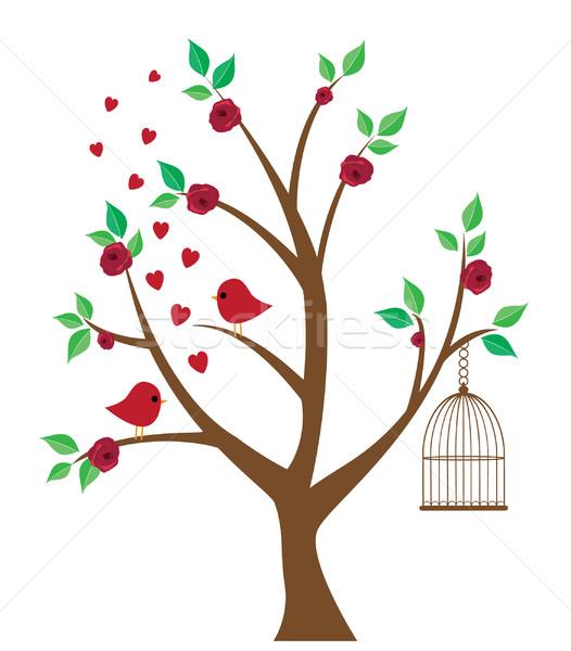 Tree With Birds Stock photo © lilac