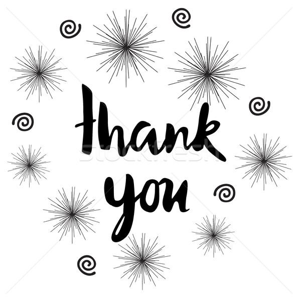 Vector thank you card Stock photo © lilac