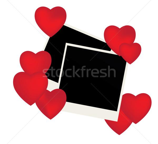 Corações vetor fotos vermelho água casamento Foto stock © lilac