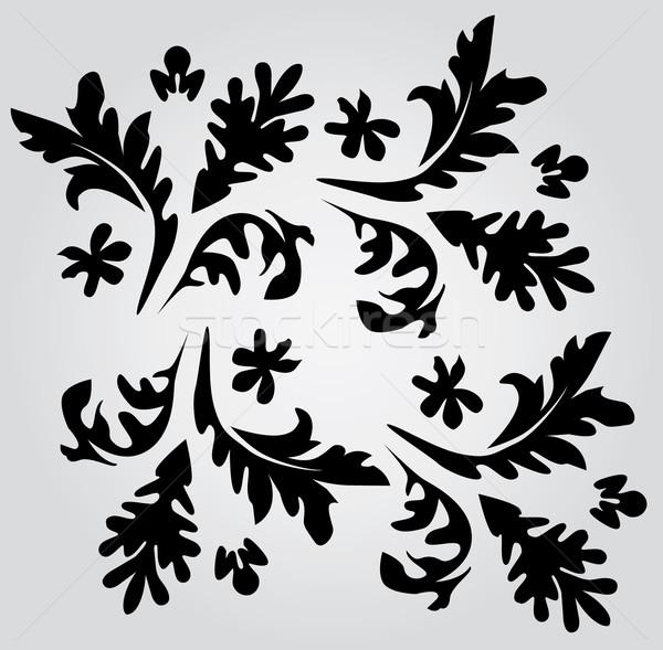 Tourbillons vecteur floral résumé wallpaper vintage Photo stock © lilac