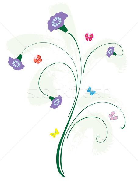 Floreale carta natura design foglia Foto d'archivio © lilac