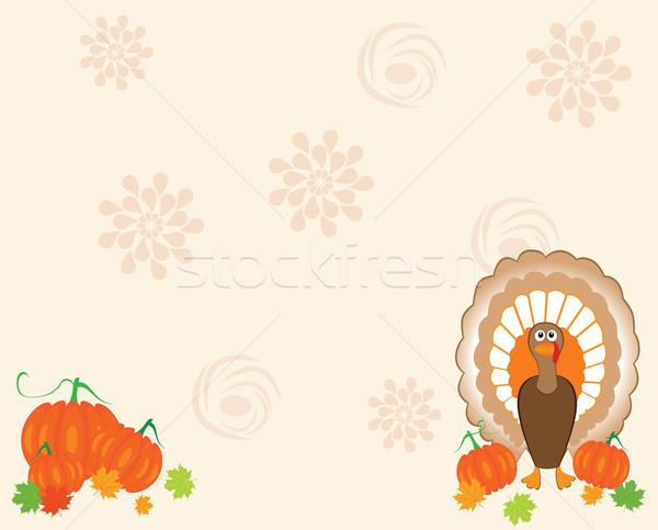 Stock photo: thanksgiving card